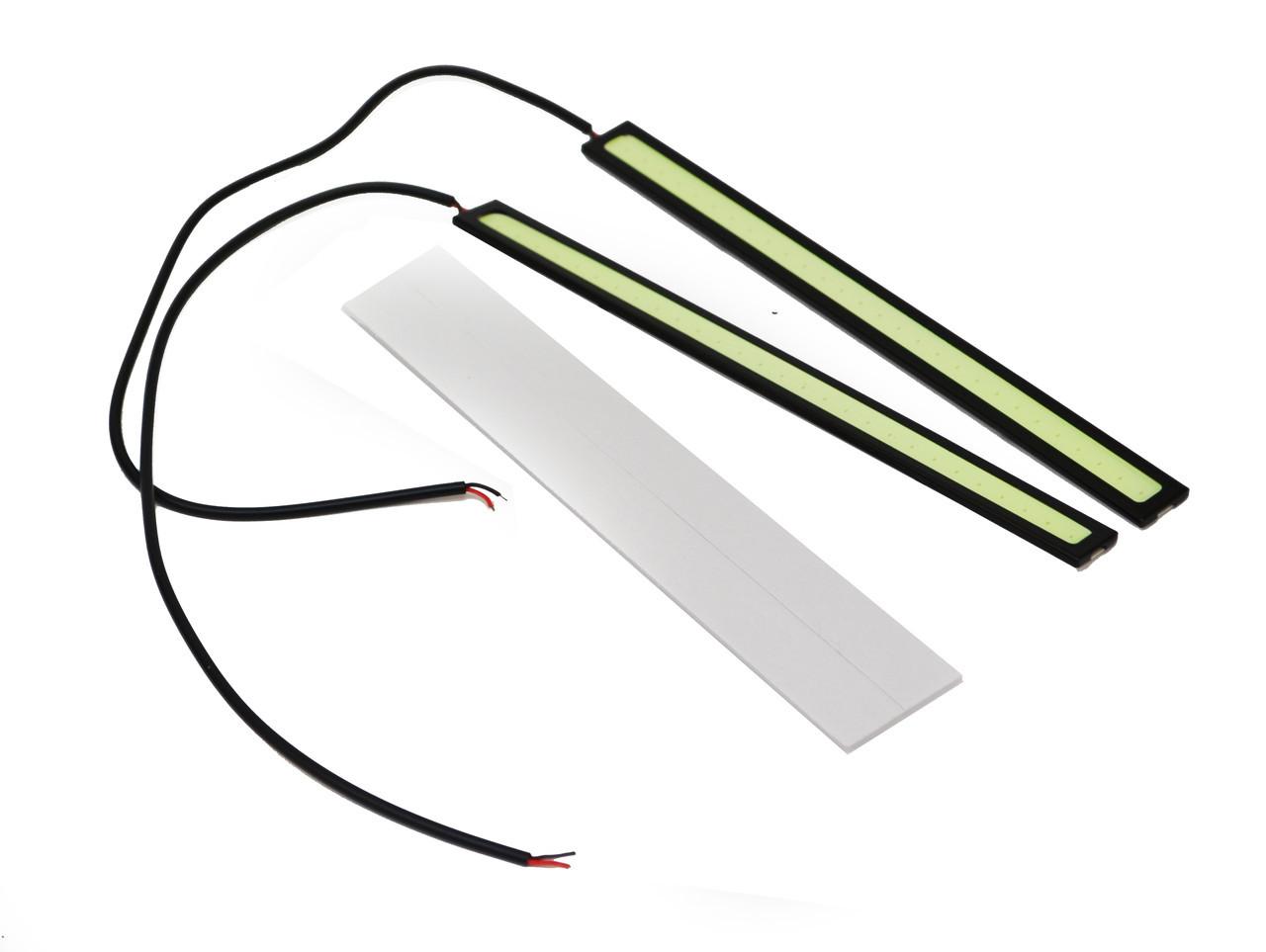 Гибкие дневные ходовые DRL огни 170А 17см  (2 планки) (3084)