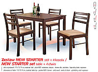 Кухонный комплект NEW STARTER стол + 4 кресла