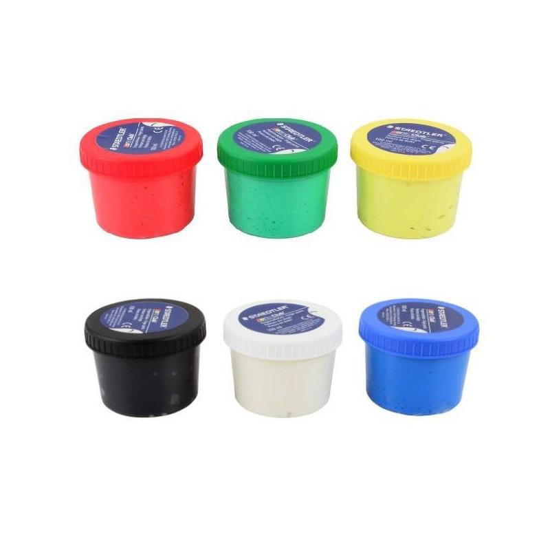 """Краски пальчиковые STAEDTLER """"Noris Club"""", 6 цветов по 100 мл"""