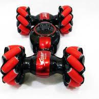 Машинка перевёртыш Stunt LH-C019S Управление жестами и обычным пультом Красная