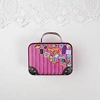 """Сумка чемодан кукольный или бокс для хранения """"Voyage"""" 7.5*5.5*3.5 см Розовый"""
