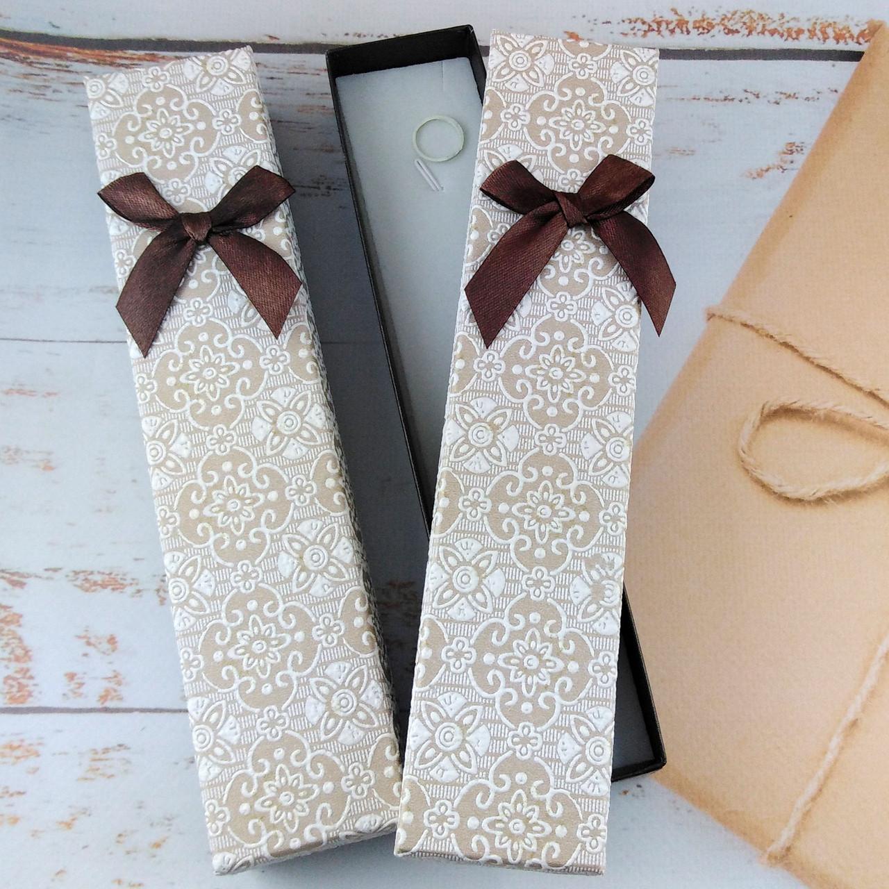 Подарочная коробочка для браслетов BEAUTY Коричневая