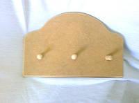 Вешалка на 3 гвоздика 30х20 см мдф заготовка для декора