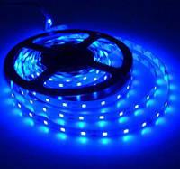 Кольорова світлодіодна стрічка СИНІЙ SMD2835 Blue 60led/m, 5W*1m, 12Vdc, Кратність різання 5 див.