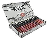 Набор жидких матовых помад Kylie By Kylie Cosmetics 12 шт мрамор White