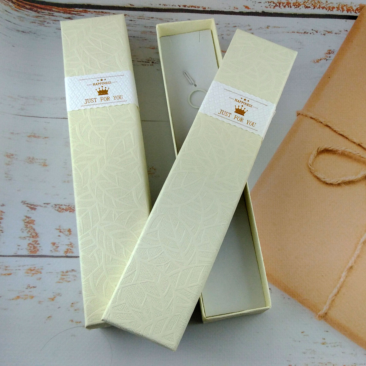 Подарочная коробочка для браслетов Just for you Светло желтая