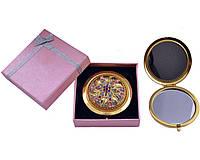 """Зеркальце в подарочной упаковке """"Испания"""" золото"""