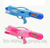 Водный пистолет 1006 (48/2) 2 цвета, с накачкой, в кульке