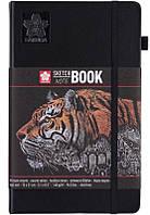 Блокнот Sakura Sketch 13*21 cм черная бумага страниц 140 г/м 80 листов, 448561