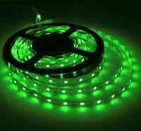 Кольорова світлодіодна стрічка ЗЕЛЕНИЙ SMD2835 Green 60led/m, 5W*1m, 12Vdc, Кратність різання 5 див.