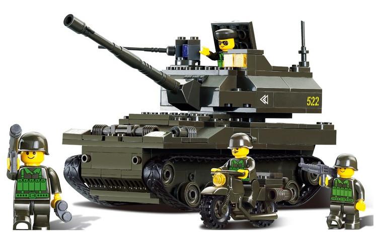 Конструктор SLUBAN серии Армия Сухопутные войска Танк, M38-B9800, 258 деталей