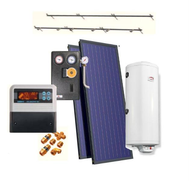 Пакетное предложение для ГВС: Солнечный коллектор Roda RSSCV20+комплектующие (на 6 человек)
