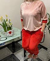 Пижама - домашний костюм из плюшевого велюра
