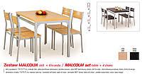 Кухонный комплект MALCOLM стол + 4 кресла