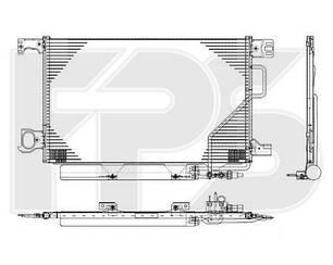 Радиатор кондиционера MERCEDES 203 00-07 (C-CLASS)