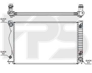 Радиатор AUDI A6 05-11 (C6)