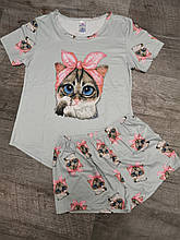 Молодежная пижама кошкаи 04-2