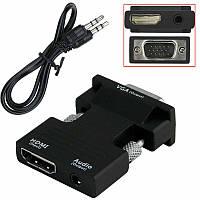 Конвертер с HDMI на VGA OUT Black (6737), фото 1