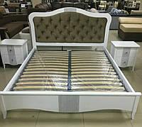 Кровать София с тумбами из массива ясеня
