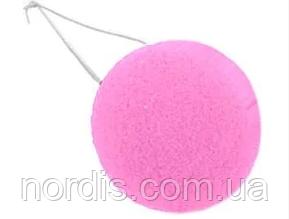 Нос клоунский поролоновый розовый. Карнавальный нос.