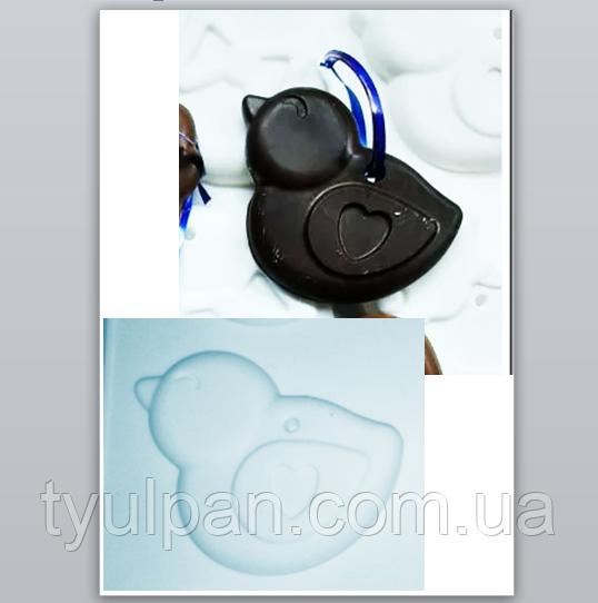 Пасхальная форма для выпечки и десертов шоколада силикон ципленок 9*7 см