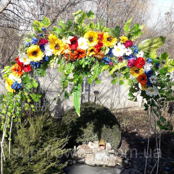 Гірлянда в українському стилі з штучних квітів
