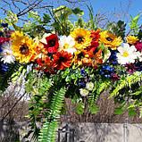 Гірлянда в українському стилі з штучних квітів, фото 4