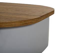 Журнальный стол - трансформер CT-15 орех + серый 120*60*(35-60)(Н) TM Vetro Mebel, фото 3