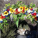 Гірлянда в українському стилі з штучних квітів, фото 3