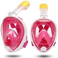 Маска для плавания Розовая (S/M) FREE BREATH