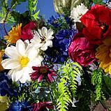 Гірлянда в українському стилі з штучних квітів, фото 2