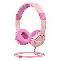 Ausdom K1 модные проводные наушники для детей Pink-Rose