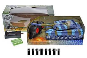 Р.У танк (+акумулятор), музичний зі світлом, в кор. 27*12,5*10,5см /48/