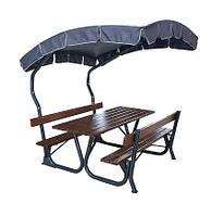 Столы для пикника, беседки.
