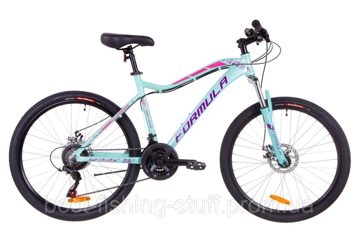 """Велосипед 26"""" Formula MYSTIQUE 1.0 AM 14G DD Al 2019 (бирюзовый)"""