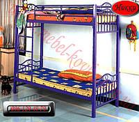 """Детская металлическая кровать""""Никки""""  (90 см на 190 см)"""