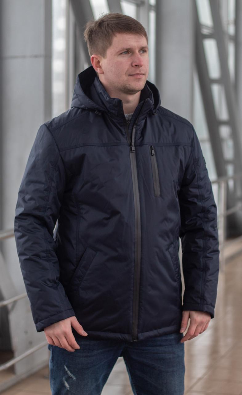 Мужская куртка осень-весна  большого размера    48-70 синий