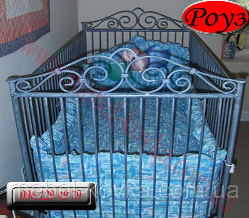 """Детская металлическая кровать"""" Роуз """"(90 см на 190 см)"""