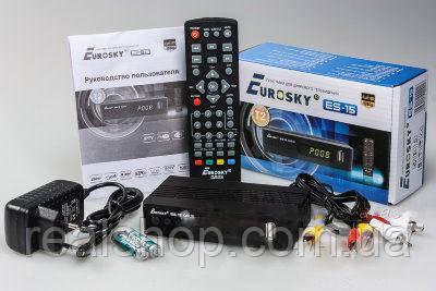 Т2 ресивер Eurosky ES-15 DVB-T2, TV тюнер Т2 приемник
