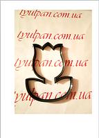 Вырубка тюльпан с листиком 8 см