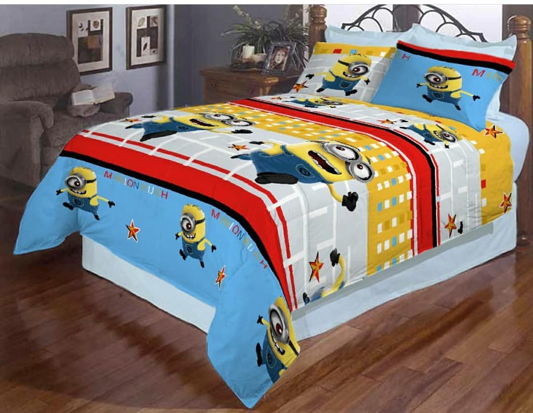 Детское полуторное постельное белье Миньоны
