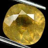 2.71 кт Природний жовтий сапфір подушка 7.8 х 7.6 мм., фото 1