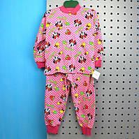 Пижама для девочки кулир с начесом размер 60,72,80