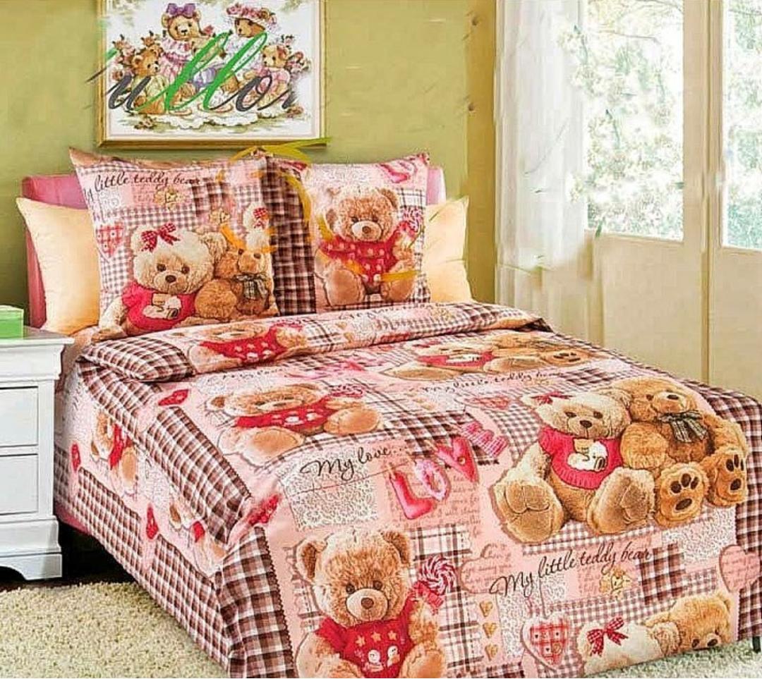 Детское полуторное постельное белье Мишки