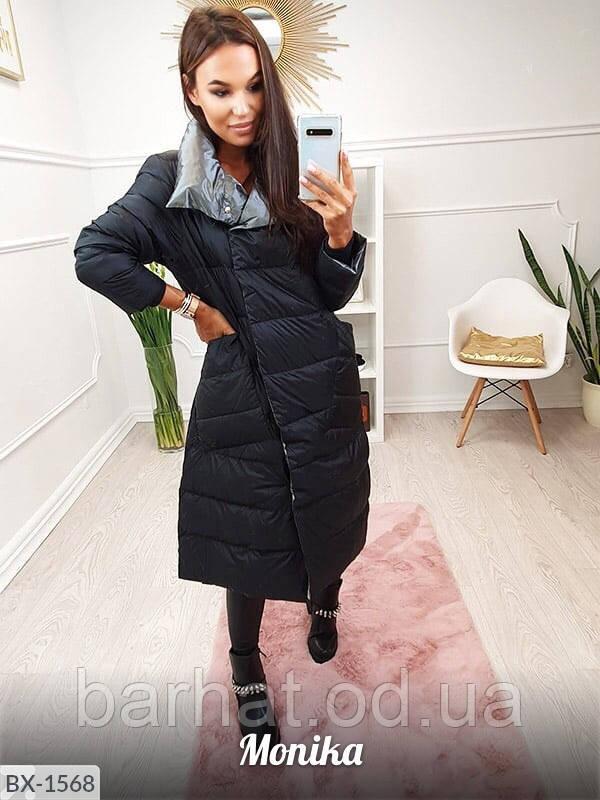 Куртка черная двухсторонняя 46-48 р.
