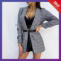 Женский пиджак костюмка S-M М-L