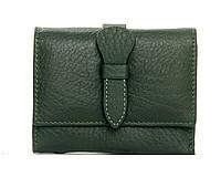 Женский кожаный кошелек 10*12,5*2,5 зеленый, фото 1