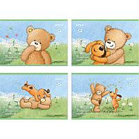 Альбом для рисования Kite A4 12л 120г/м2 Popcorn Bear скоба PO18-241