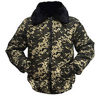 Куртка - пилот камуфляжная «Темный пиксель»
