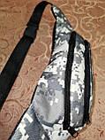 Сумка на пояс off white камуфляж Унисекс/Спортивные барсетки бананка только опт, фото 3